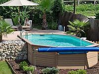 AZTECK - Top quality above ground and inground pools fabricated with a unique mix of wood and polymer.